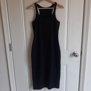 Lululemon Black Refresher Racer Midi Dress Size 8